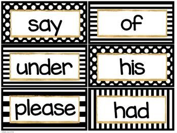 Black And Gold Word Wall Editable Word Wall Classroom Decor