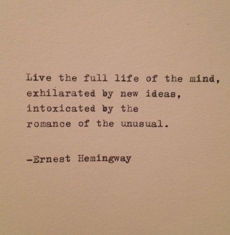 Hemingway Quote Typed on Typewriter | Etsy