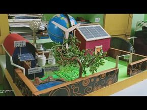 Science Project Model Eco Friendly House With Solar Biogas Unit Windmill Organic Farming Fertilizer Youtube Science Project Models Science Projects Eco Friendly House