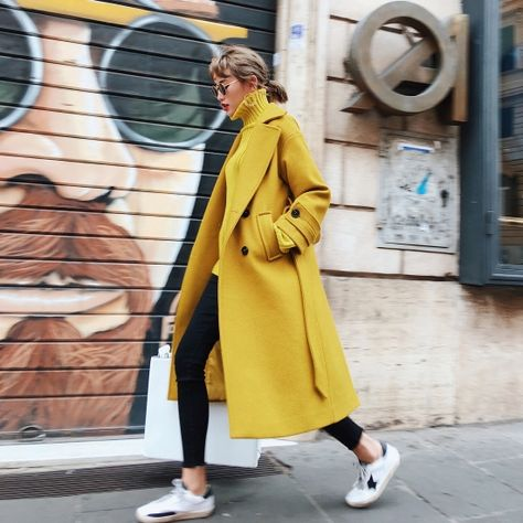 46 ideas how to wear yellow coat fashion for 2019