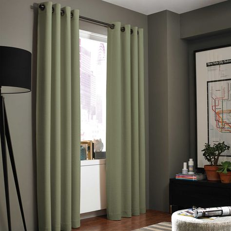 Kenneth Cole Reaction Home Gotham Texture 63 Inch Lined Grommet