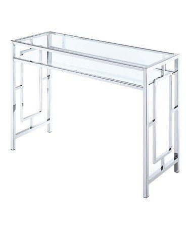 Chrome Clear Desk Clear Desk Chrome Contemporary
