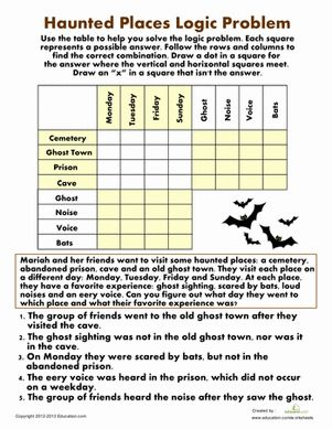Logic Puzzles - free downloads of puzzles that would be good for ...