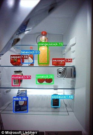 Microsoft Designs A Smart Fridge That Reminds You What Food You Need Smart Home Technology Home Technology Smart Home