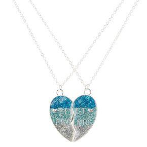 2pcs dauphins meilleurs amis Collier pendentif coeur bijoux cadeau d/'amitié gift