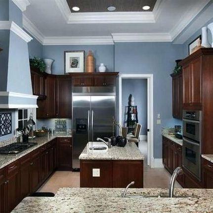 Grey Kitchen Cabinets Beige Walls Popular Kitchen Colors Blue Kitchen Walls Grey Blue Kitchen