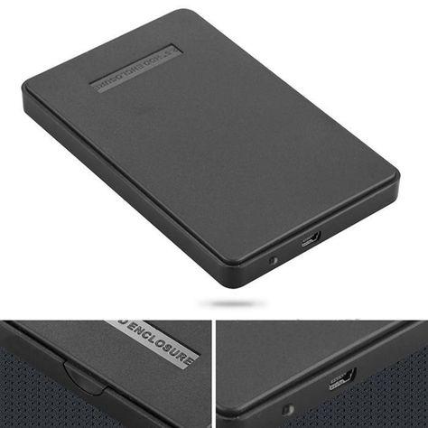 "NEW USB 2.0 External Laptop 2.5/"" SATA Hard Drive Enclosure//Case up to 2TB"
