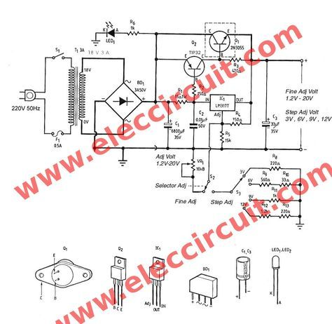 Lm317 2n3055 3a Variable Power Supply With Images Power Supply
