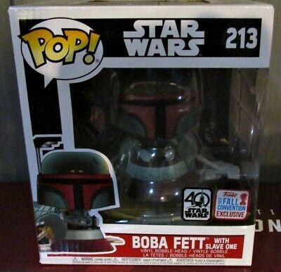 Funko Pop Star Wars Boba Fett W Slave One 213 Nycc 2017 Exclusive Free Ship Funkopop Funko Christmas Star Wars Boba Fett Boba Fett Funko Pop Star Wars