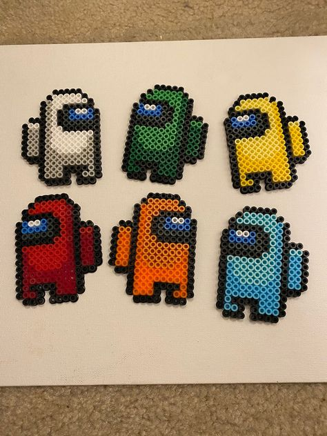Excited to share this item from my #etsy shop: Among us perler bead set #amongus #perlerbeads Easy Perler Bead Patterns, Perler Bead Designs, Melty Bead Patterns, Hama Beads Design, Diy Perler Beads, Seed Bead Patterns, Hamma Beads 3d, Hamma Beads Ideas, Fuse Beads