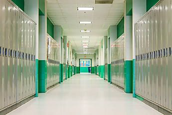 School Photography Of Hallway In American High School Stocksy