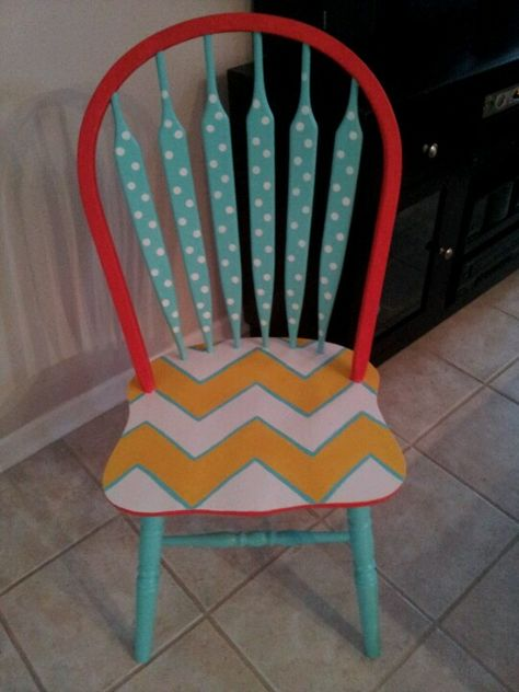 Classroom chair I painted!
