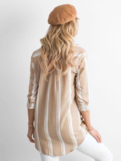 Bezowa Koszula Damska W Paski Koszula W Paski Sklep Ebutik Pl Fashion Mini Dress Dresses