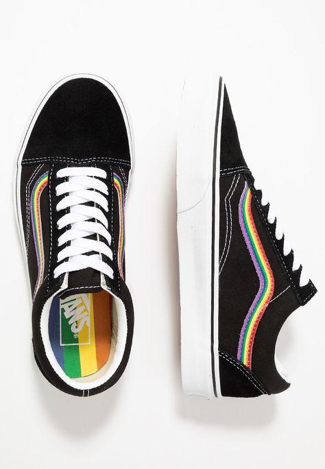 Vans OLD SKOOL - Sneakers basse - black/multicolor/true white ...