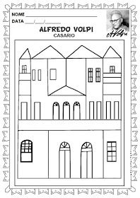 Educacao Infantil Facil Obras Para Colorir Alfredo Volpi Em 2020