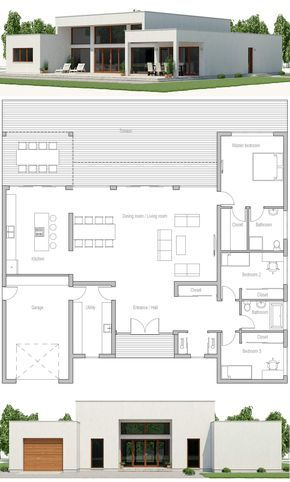 Plan De Maison Maisons Architectural Design House Plans House Architecture Design Modern House Plans