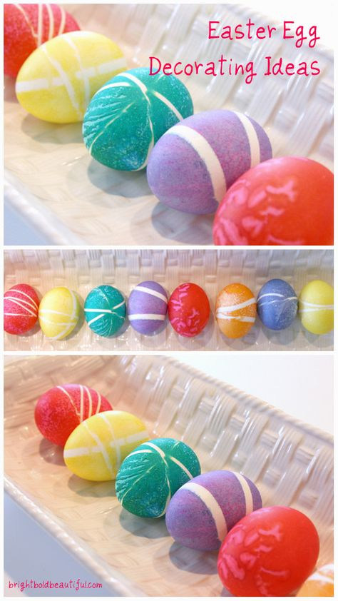 More Easter Egg Decorating Ideas - turn traditional Easter egg decorating into art #Egg #Easter #Traditions