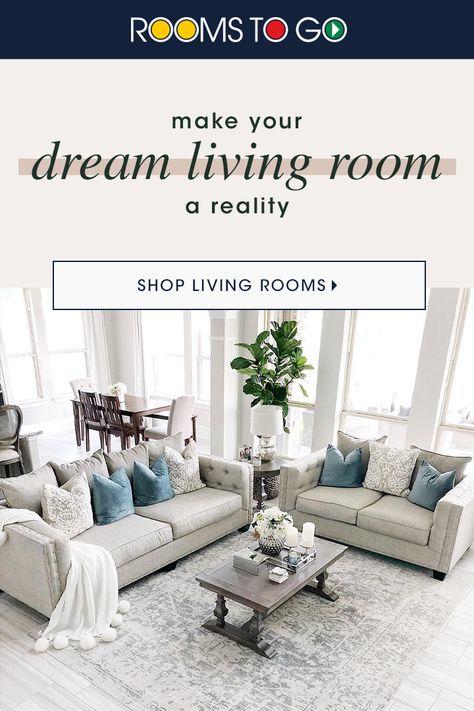 Make Your Dream Living Room A Reality Living Room Sets Furniture Dream Living Rooms Farm House Living Room