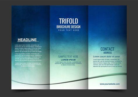 Free Vector Tri Fold Brochure Design Pinterest Tri Fold   Sample Bi Fold  Brochure