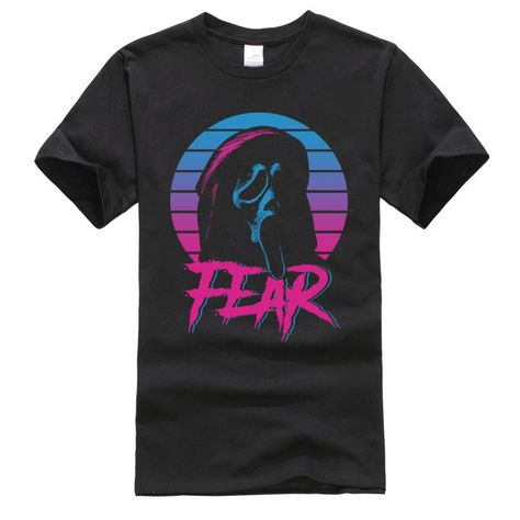 Cheap T-Shirts, Buy Quality Men's Clothing Directly from China Suppliers:Fear screaming Horror halloween Alien Grim Tshirts Vaporwave Skull Mens T Shirts Round Neck 100% Cotton Tops & Tees Top Quality Enjoy ✓Free Shipping Worldwide! ✓Limited Time Sale✓Easy Return.