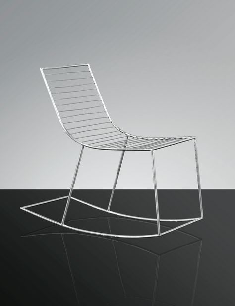 Incroyable Philolaos; Stainless Steel Rocking Chair, 1968 69. | CHAIRED | Pinterest | Stainless  Steel, Steel And Rocking Chairs