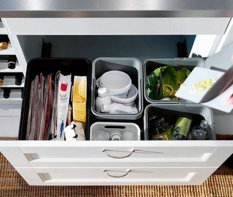 Contenitori per la raccolta differenziata di Ikea   Kitchen ...