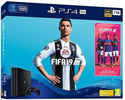 Sony Playstation 4 Pro 1tb Console With Fifa 19 Ultimate Team Icons And Rare Player Pack Bundle Playstation Fifa Console