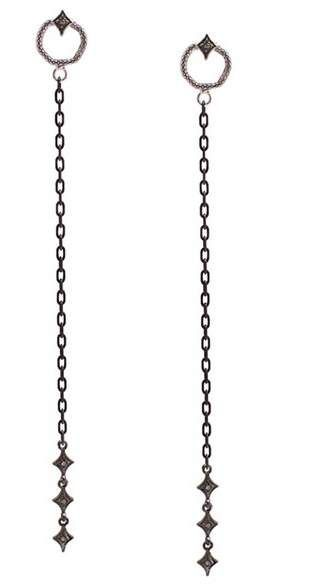 Sterling Silver Diamond Cut Dangle Boucles d/'oreilles Nouveau