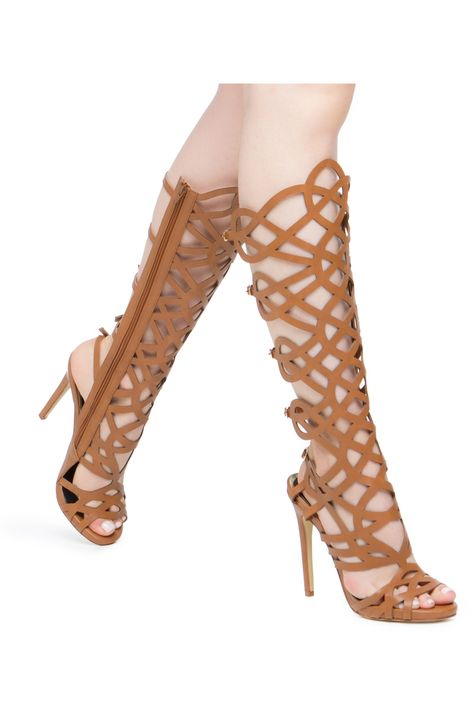 Spend Your Nights At The Vip Tables This Spring In The Linyah By Scene This Statement Maker Features A Knee High Silhouette With Sexy Cutout Details