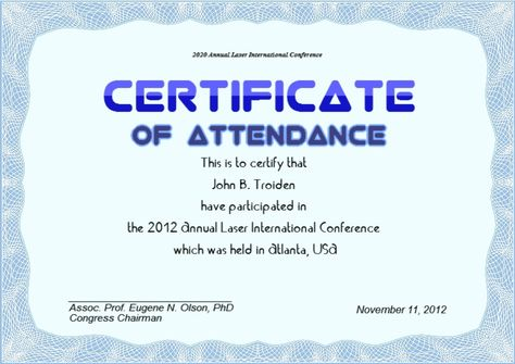International Conference Certificate Templates Zrom