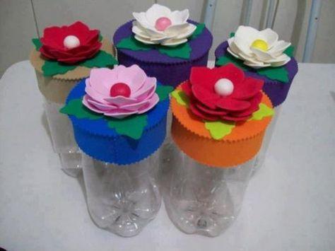 Artesanato Com Garrafa Pet Para O Dia Das Maes Com Flores