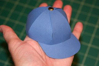 Paper Baseball Cap Tutorial. Fun for party decorations or small animals :) how to make the cloche for the transparent flower garden.