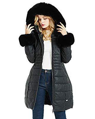 quality design 93371 6f05a Bellivera Damen Langer Puff-Wintermantel, Parka-Mantel mit ...
