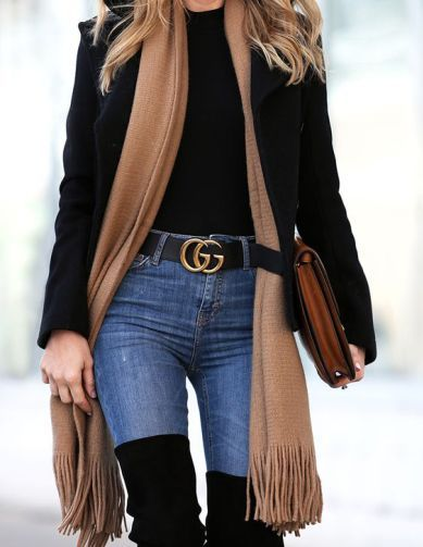 a51a6aaaba4d 11 Cute Fall And Winter Gucci Belt Outfits | outfit inspiration ...