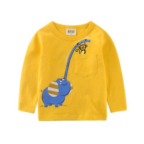 Fashion Spring Boys Girl Baby Long Sleeve T Shirts Children Tees Kids Tops Plane
