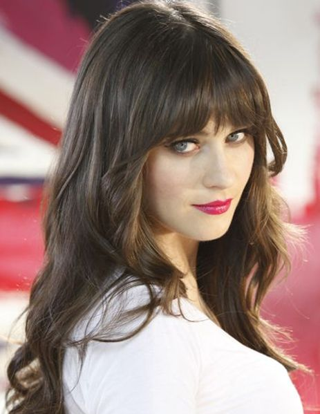 8 Of The Most Stunning Full Fringe Hairstyles 2018 For Women With Long Hair Hair And Comb Zooey Deschanel Hair Hair Styles Long Hair With Bangs