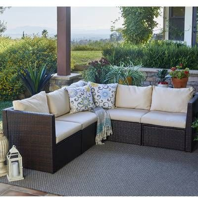 Burruss Patio Sectional With Cushions Patio Sectional Outdoor