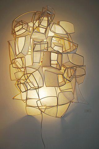 Light Sculpture Viorel G Hodre 3d Sculpture Print The 3d Sulpture Yourself 3dsculpture 3dfile Light Sculpture Viorel In 2020 Lichtkunst Lampendesign Lampen