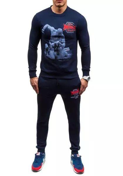 Zogaa الرجال رياضية 2 قطعة من وتتسابق 2019 جديد الرجال الأزياء 2 أجزاء البلوز و بنطلون رياضي مجموعة جرزاية الرجال بذلة رياضية Clothes Design Clothes Design