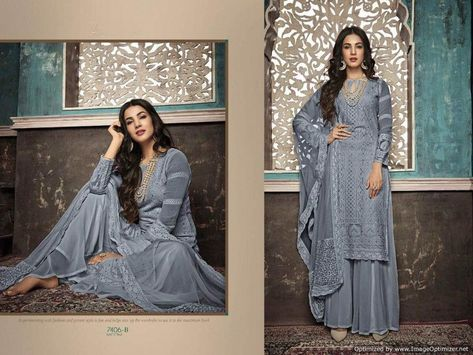 #salwar suit grey colore party wear salwar suit wedding wear embroidery work sal...#colore #embroidery #grey #party #sal #salwar #suit #wear #wedding #work