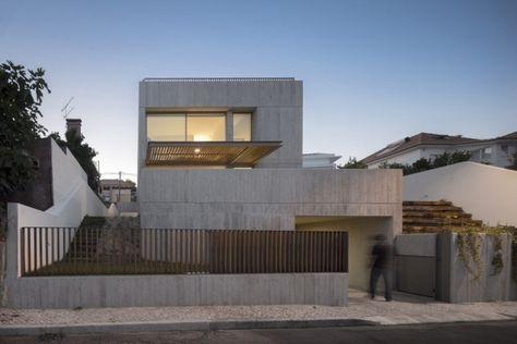 gartenmauer beton design eisen ideen sichtschutz vorgarten, Gartenarbeit ideen