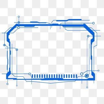 Blue Rectangle Sci Fi Technology Dialog Border Shading Background Material Blue Technology Science Fiction Png Transparent Clipart Image And Psd File For Fre Sampul Kartu Desain Desain Sampul