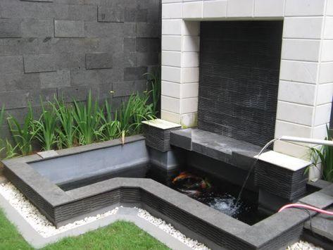 55 inspirasi desain kolam ikan minimalis di halaman