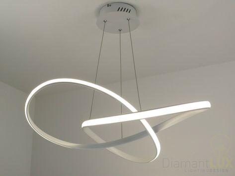 Sospensione Design Lampadari Camera Da Letto.Lampadario Sospensione Design Moderno Led Onde Luminose Bianco
