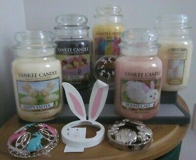 Easter Bunny Jar Holder Free Ship! NIB Yankee Candle