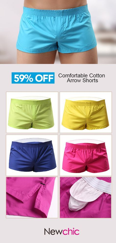 e50fb5d8eb7e 【3 /US$24.00】Arrow Pants Casual Home Low Waist Cotton Inside Pouch  Breathable Boxers for Men #arrow #shorts #home #menswear