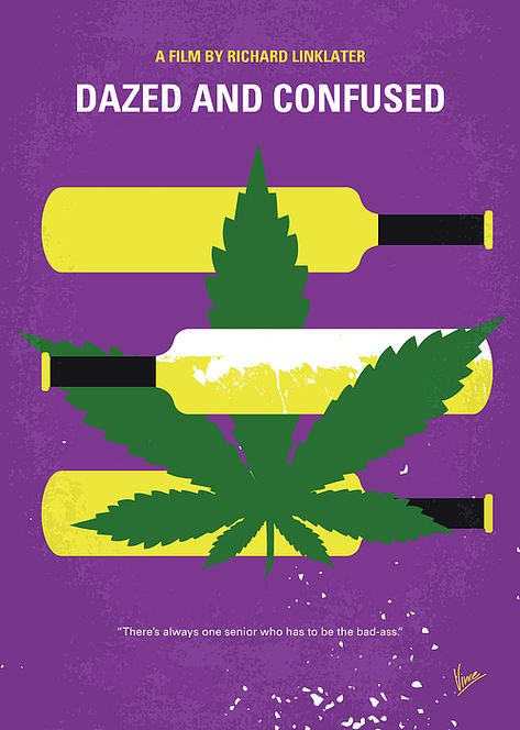 No1256 My Dazed and Confused minimal movie poster by Chungkong Art