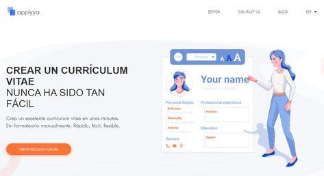 Applyya te permite crear gratis un curriculum vitae atractivo y profesional