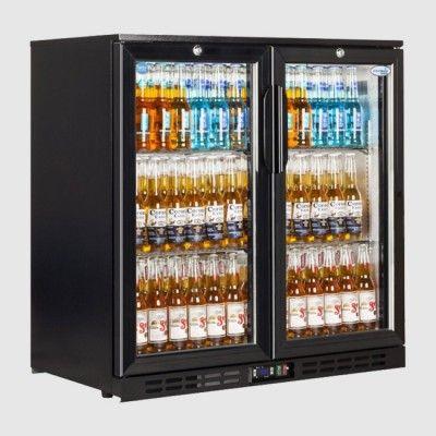 Interlevin Ec20h Bottle Cooler Double Doors Double Glass Doors Bottle Coolers