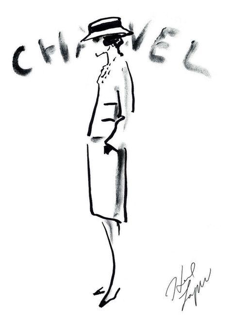 L'Allure de Chanel. Croquis original de Karl Lagerfeld.